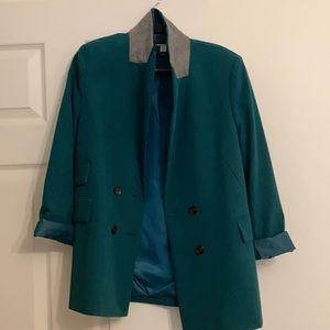 Topshop petite size 8 US green blazer never worn